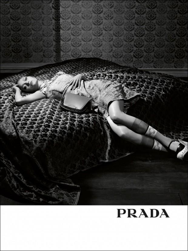 Джулия Нобис (Julia Nobis), Джемма Уорд (Gemma Ward) и Ин Нифс (Ine Neefs) в рекламной фотосессии для PRADA (8 фото)