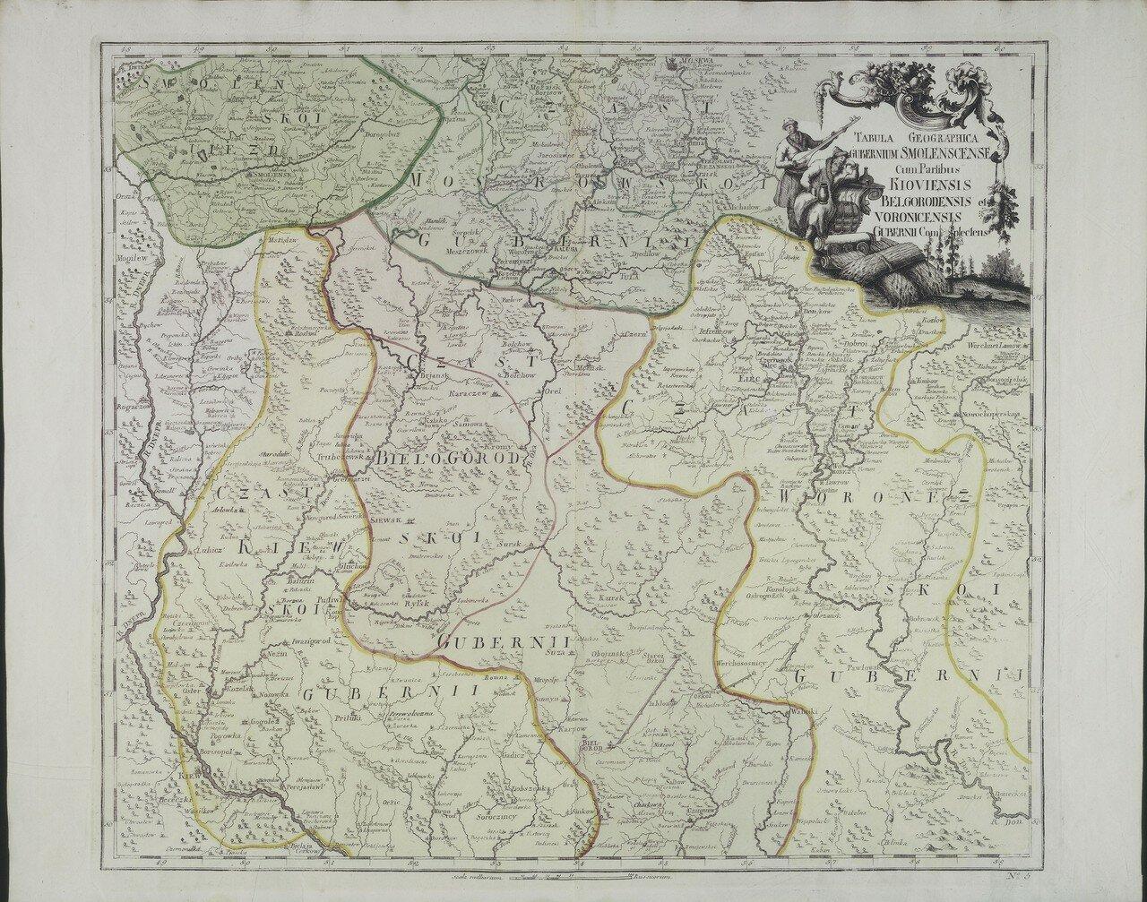 1745. Карта Смоленской губернии