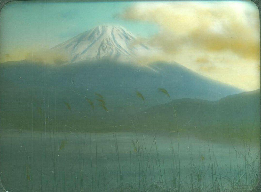 Вид на Фудзи с озера Мотосу