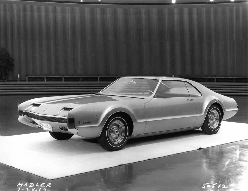 This 1965 Toronado is a fiberglass styling model with an interior that stops at the belt line. The photo is dated 7.24.63.jpg