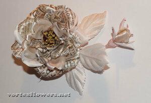 Мастер-класс. Роза  с газетным принтом «Lady Print» от Vortex  0_fc134_f944bb32_M