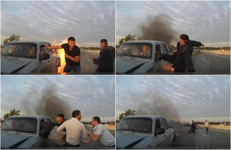 """Dramatic shots of the rescue of people from the burning """"Volga"""""""