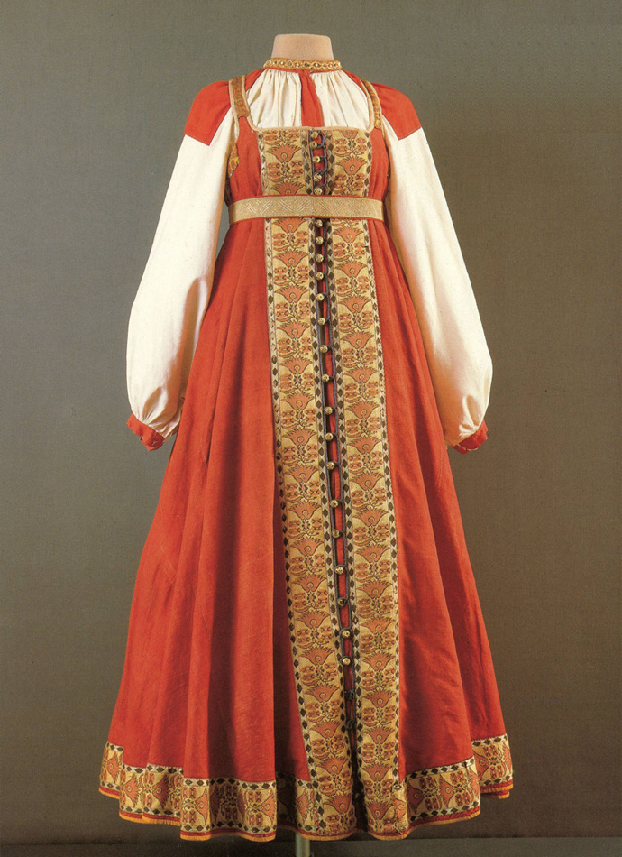 праздничная женская одежда Тверская губерния первая половина 19-го века