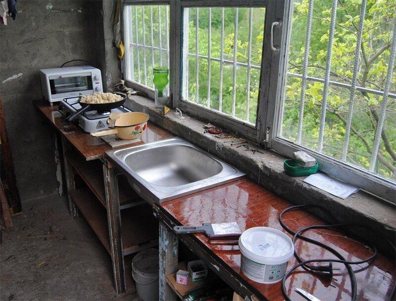 Веранда. Кухонный гарнитур