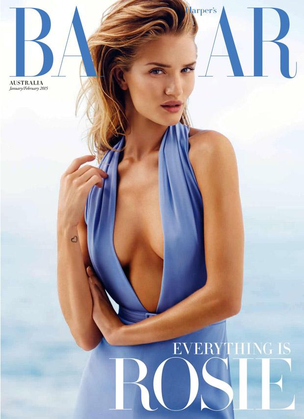 Рози Хантингтон-Уайтли (Rosie Huntington-Whiteley) в журнале Harper's Bazaar Australia
