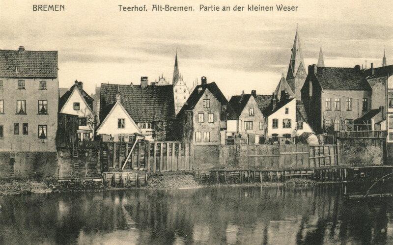 Teerhof. Аltе-Bremen. Partie an der kleinen Weser