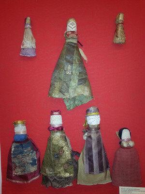 куклы из старинных тканей