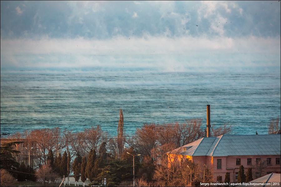 Морозный вечер в Севастополе