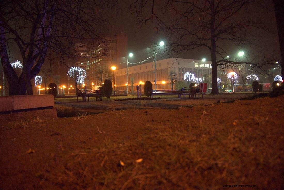 "Вечерний вид на ""Бастилию"" в Новополоцке."