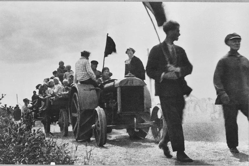 Arkady Shishkin, First Village Tractor, Smolensk Oblast, 1928.jpg