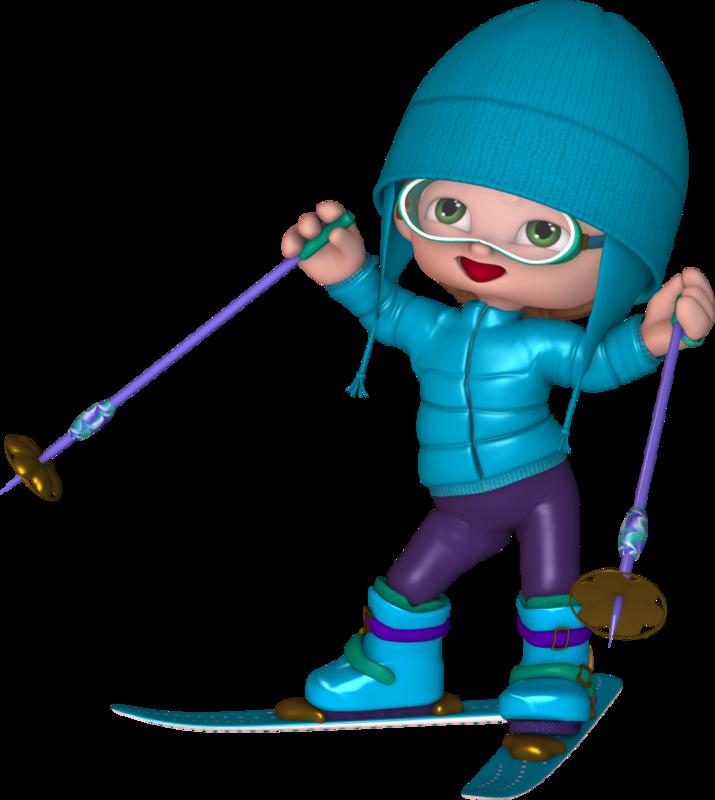Юбилеем, картинки лыжников для детей
