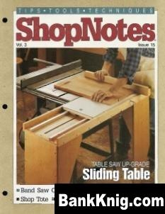 Журнал ShopNotes №15 (1994) pdf 22,35Мб