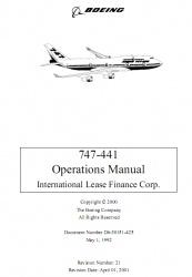 Книга Boeing 747-400 Operations Manual