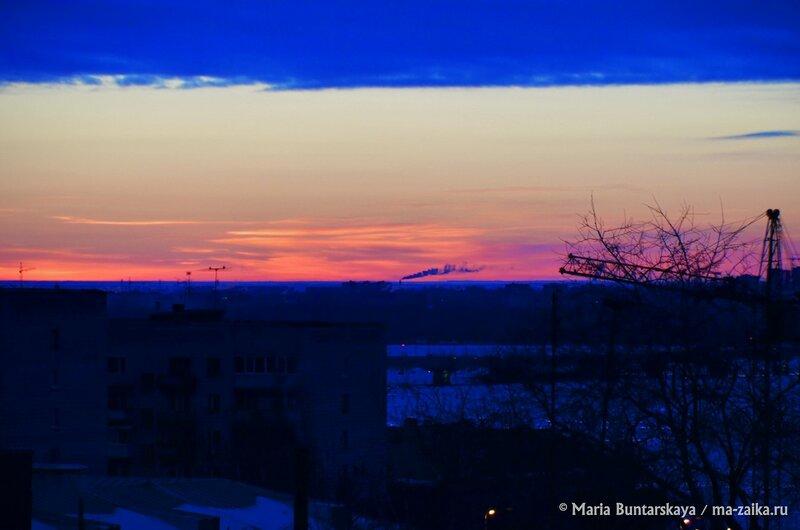 Недавний рассвет, Саратов, 21 января 2015 года