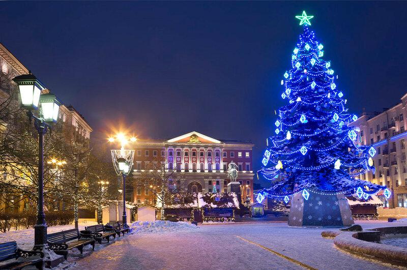 Новый Год у мэрии Москвы.