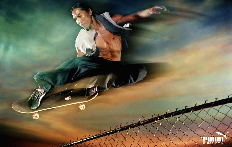Спортивные звезды в рекламной кампании Puma / фотограф Warwick Saint