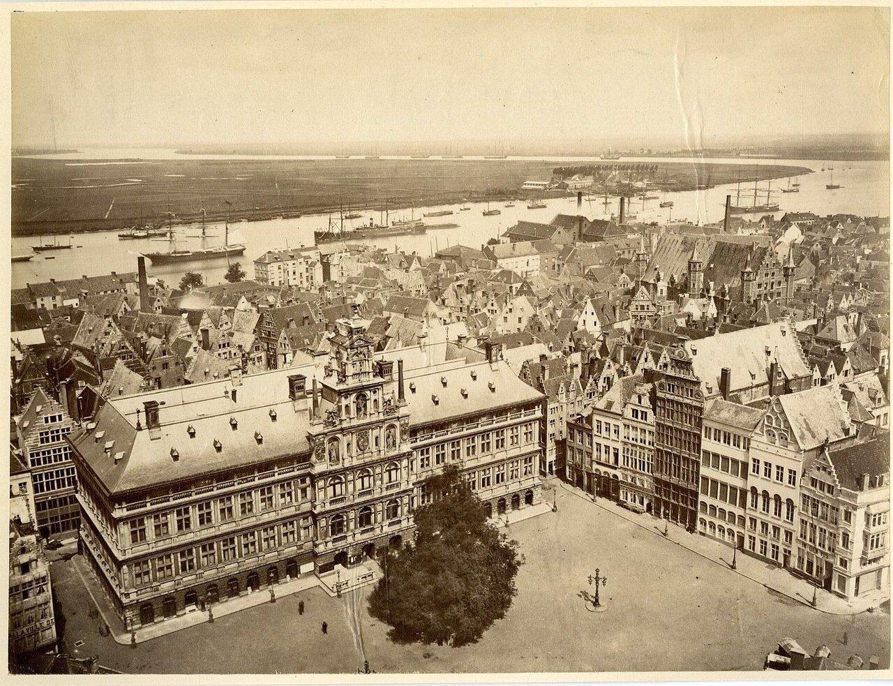 1880. Вид мэрии и Шельды