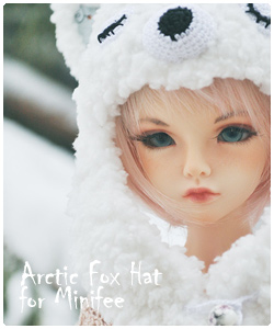 Arctic fox hat for minifee