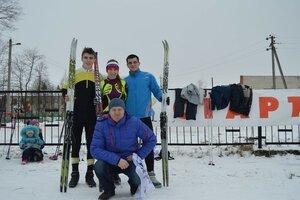 Рябчинские спортсмены на зимних сельских играх. 2015 год.