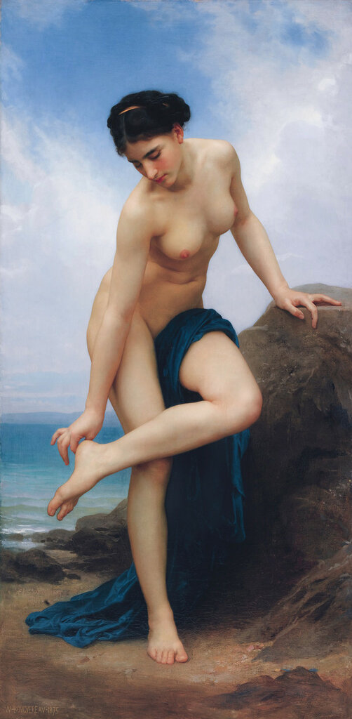 Après le bain, by William Bouguereau