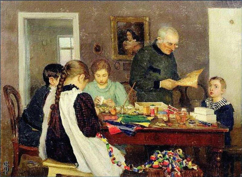 Cергей Васильевич Досекин - Подготовка к Рождеству, 1896 г..jpg