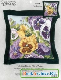"Журнал Набор для вышивки крестом ""Glorious Pansies Pillow"" (30928)."