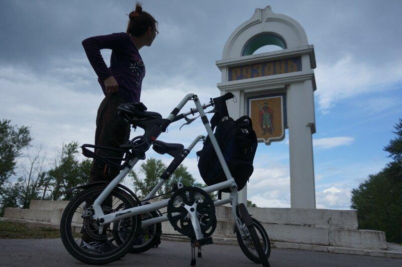 Электричка и два велосипеда