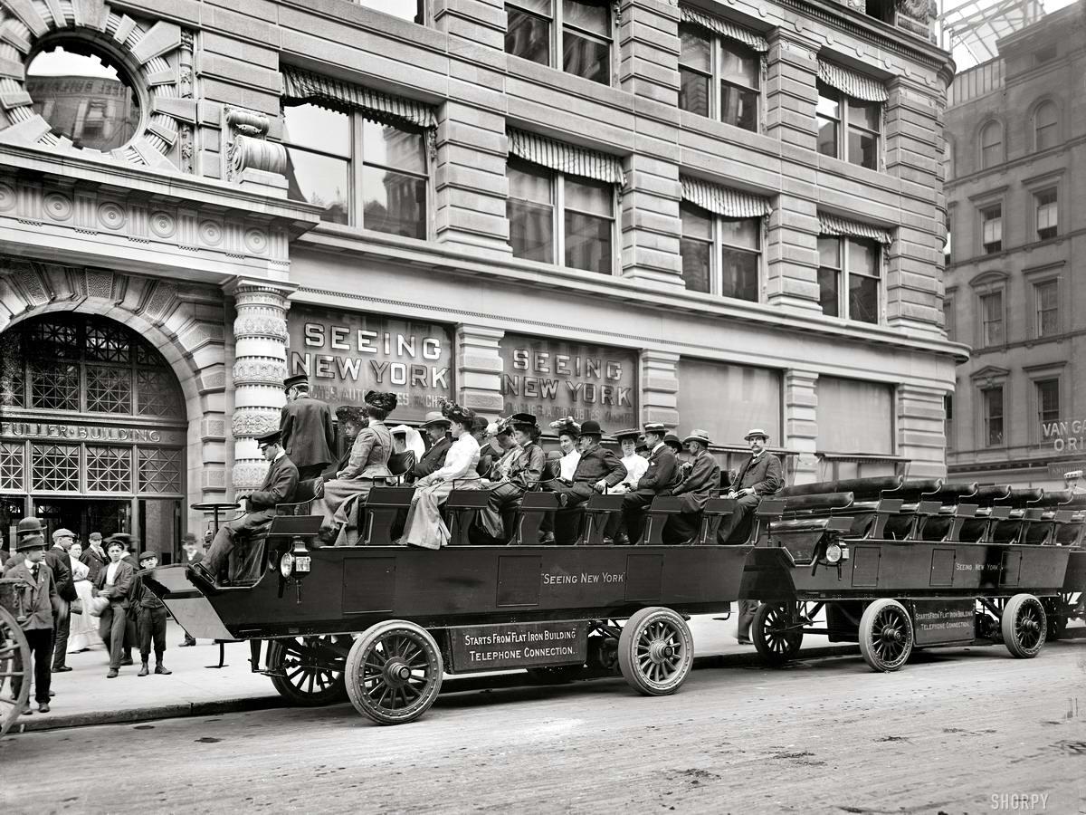 Специализированные транспортные средства начала 20-го века на снимках американских фотографов (1)