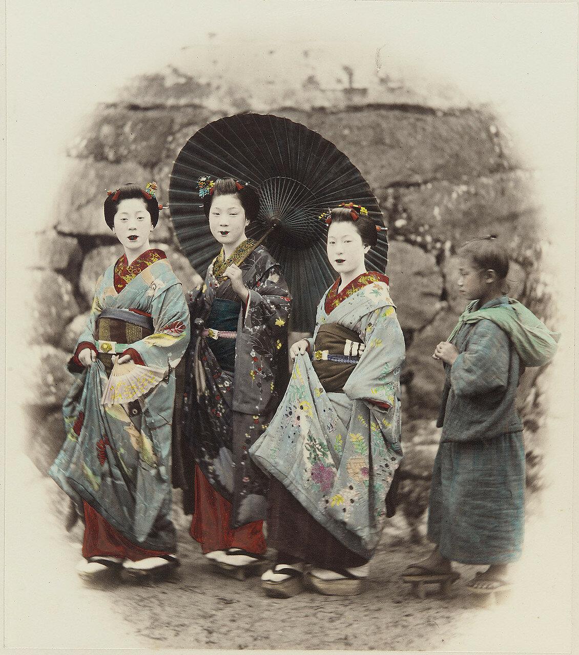 Три женщины и девочка. 1877