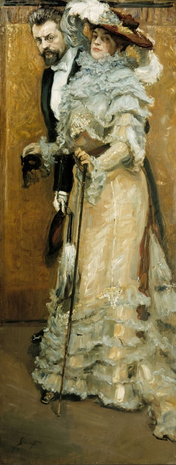 Bal paré - Selbstbildnis mit Gattin 1904.Max Slevogt (1868–1932)