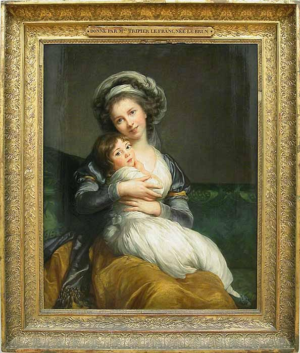 Self-Portrait with Her Daughter, Julie, 1786. by Louise Élisabeth Vigée Le Brun (1755-1842)Musée du Louvre, Parisby