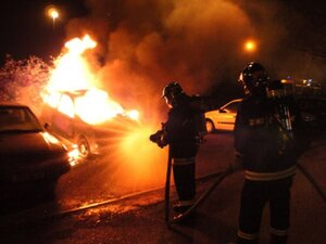 Ночью в Дурлештах сгорел автомобиль