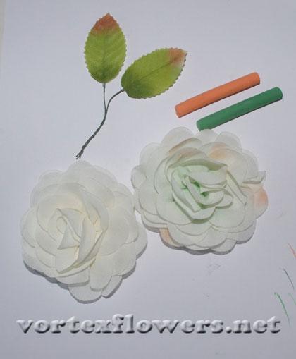 как сделать заколку-розу