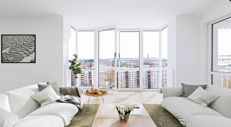 Белый цвет в интерьере гостиной, фото 21