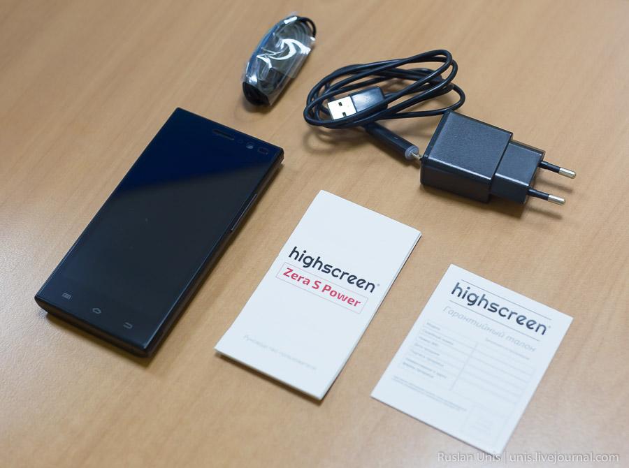 Обзор смартфона Zera S Power