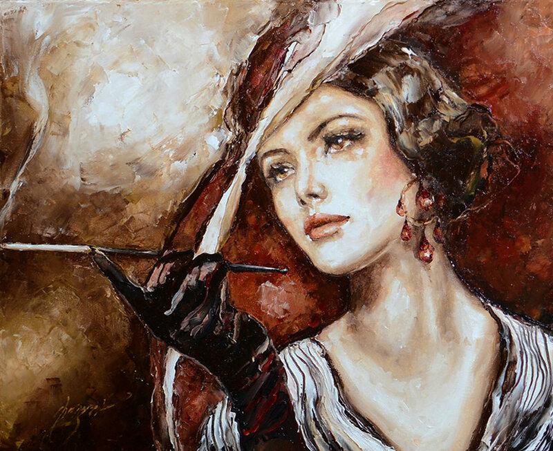 Женщины в шляпках. Elzbieta Brozek/Эльжбиета Брожек