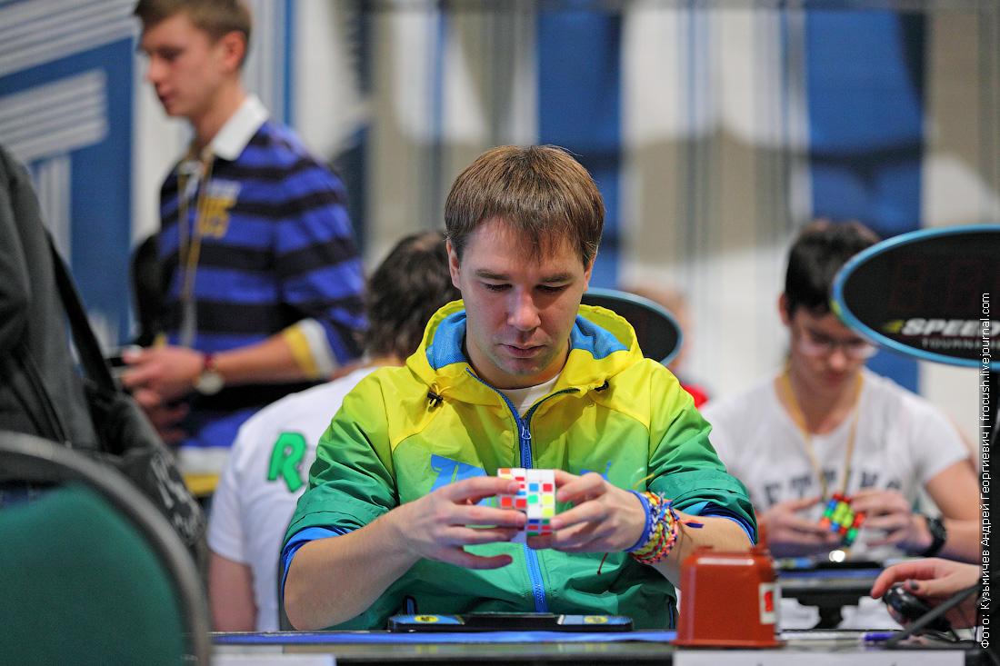 Всероссийский чемпионат по скоростной сборке кубика Рубика в ДК МЭИ Максим Чечнев