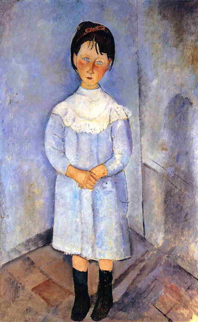 Little Girl in Blue - 1918 - PC - Painting - oil on canvas.jpeg