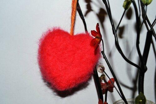 Сердечко из валяной шерсти