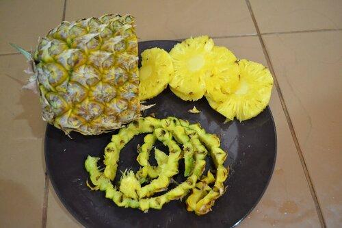 Как чистить ананас, фото