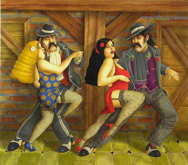 Наше Танго, смесь фантазий дерзких и огня. Художник Carlos Ferreyra