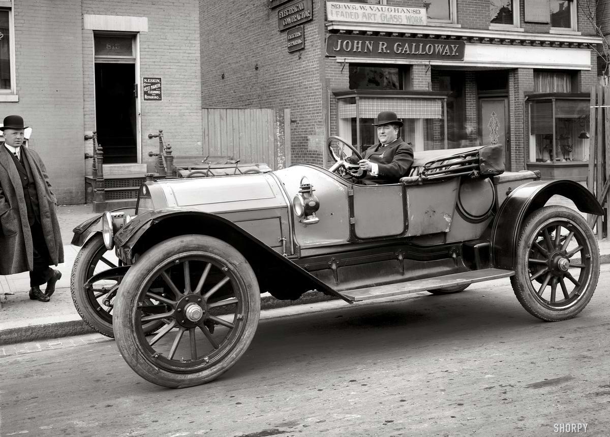 Будни автомобилистов начала 20 века на снимках американских фотографов (1)