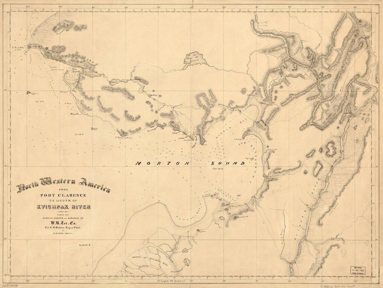 1864. Северо-Западная Америка от Порт-Кларенса до устья реки Квичак