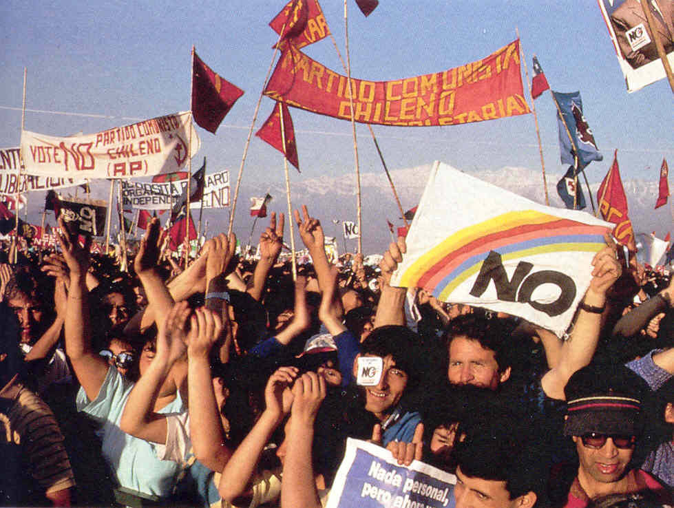Anti-Pinochet demonstrations in Chile - late spring 1989.jpg
