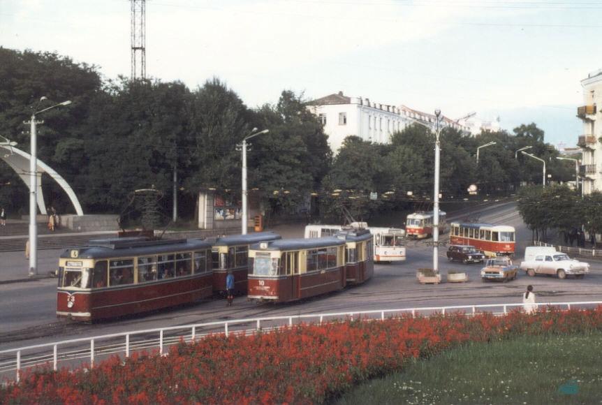 Перекрёсток на площади им. Гагарина (1978 год)