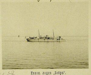 Канонерская лодка Бобр во время учений соединенной эскадры