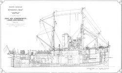 Книга Чертежи кораблей французского флота BUFFLE 1939