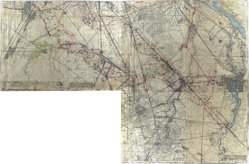 Карта огневого решения и боевых порядков 79 УР на 07.10.1943 г.