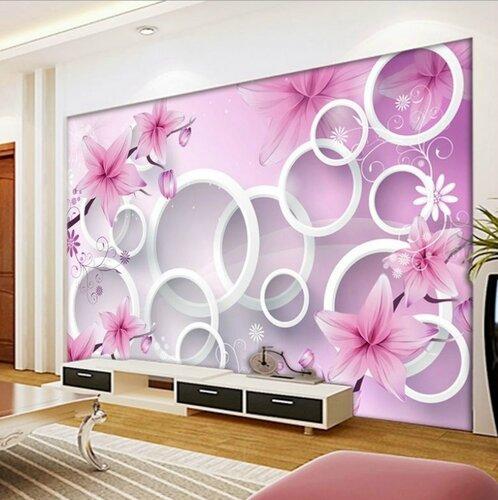 Оформление стен цветами
