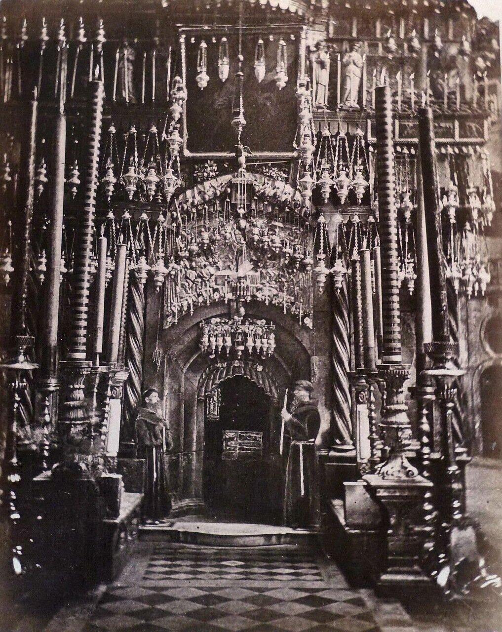Иерусалим.  Двери Храма Гроба Господня 1882